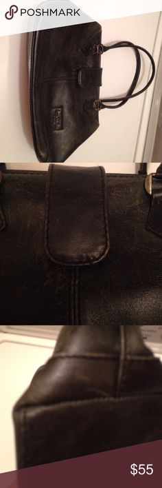 """Vintage Jane Shilton of London Drs bag black Lovely vintage black leather bag by Jane Shilton of London. Real leather. Bag has wear around opening and bag ends. Lining shows signs of use but no holes or stains. Scratches and wear will be less noticeable after a polish.  Price reflects condition but is still very good for a vintage piece. Apx 12"""" wide and 8"""" tall. Width across bottom apx 4"""". Strap drop apx 6"""". Jane Shilton of London Bags"""