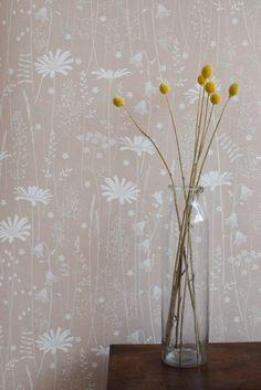 Daisy Meadow Wallpaper in Dusk