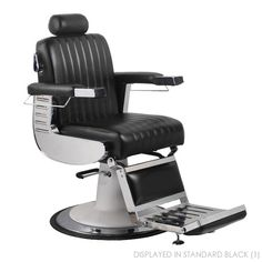 Most popular of 2014! The black Parlor Barber Chair exclusively sold at Keller International! SKU: K2095 #barbershopdesign #barberlife #kellersalon