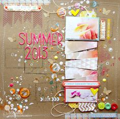 Summer 2013 LO with video tutorial - Scrapbook.com