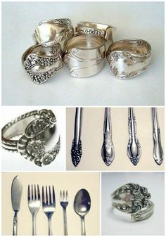 Sterling silver is a popular material used to make jewelry. One way to save money is to use sterling silver spoons to make a DIY spoon ring.