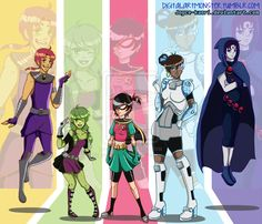 teen titans go theme song Beast Boy, Teen Titans Go, Teen Titans Robin, Deathstroke, Go Theme, Original Teen Titans, Villainous Cartoon, Gender Swap, Fan Art