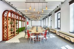 Opera Software Office in Wroclaw / Modelina Architekci Workplace Design, Corporate Design, Opera Software, Restaurants, Traditional Chairs, Hotels, Opus, Office Workspace, Office Spaces