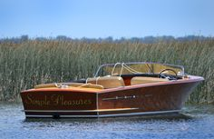 Simple Pleasure with Wood on Water Ski Boats, Cool Boats, Small Boats, Cabana, Chris Craft Wooden Boats, Classic Wooden Boats, Classic Boat, Ski Nautique, Wooden Speed Boats