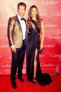 Palm Springs Gala golden couple. #matthewmcconaughey #camilalves