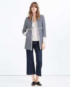 Image 1 of PRINTED COAT from Zara