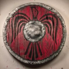 And here is the completed Viking shield made entirely of EVA foam!!