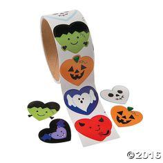 I Heart Halloween Roll Stickers - OrientalTrading.com