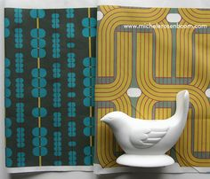 Abacus & Fleamarket Fantasy Fabric  by Michele Rosenboom.  Available on Spoonflower.