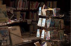 Forgotten School Library -  Abandoned Cass High School, Detroit MI