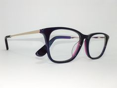 Óculos Pequeno Armação Acetato Feminino Tamanho 48 Roxo