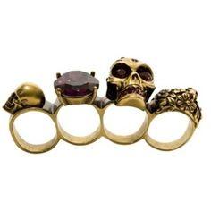 purple crystal skull knuckleduster