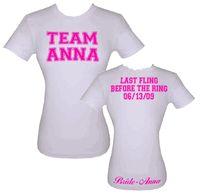 TEAM T-BONE!!  Custom Bride T-Shirts   Bride Clothing   CustomGlamGirl.com