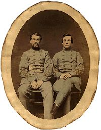 Donaldson and Rand, Confederate Soldiers, both of the 22nd Virginia Regiment of the Confederate States Army, was taken in January 1862 in Richmond, Va.
