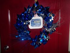 Pinwheel Wreath- We can't wait to make one! Awareness Ribbons, Blue Ribbon, Pinwheels, Families, Children, Crafts, Ideas, Young Children, Boys