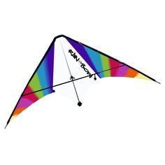 Popular Rombus Stuntkite Rainbow een kleurenspektakel op hoog niveau Inclusief ringen vliegerlijn en sportieve