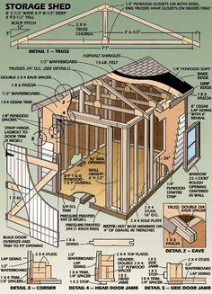 How To Building – Wooden Shed Plans PDF Download Plans CA US | download download