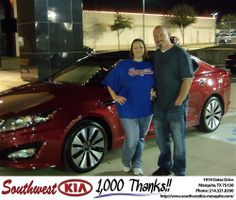 Happy Anniversary to William Luedke on your 2012 #Kia #Optima from Christopher Meregini and everyone at Southwest Kia Mesquite! #Anniversary