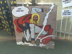 Cutout with options guests can choose from for bubble.  Super hero party