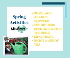Spring is on its way! Read how you can use the sense to enjoy the season with the person with Alzheimers.