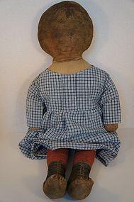 Large cloth doll circa 1900 Art Fabric Mills  26