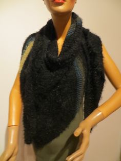 handmade scarf, Merino, Microfaser Handmade Scarves, Different Colors, Fur Coat, Colours, Jackets, Black, Fashion, Ponchos, Down Jackets