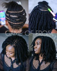 crotchet braids Crochet braids made a huge debut in 2015 and we're sure they are not going out of style anytime soon. Check out this list of chic Crochet Braids Hairstyles! Protective Hairstyles For Natural Hair, Natural Hair Braids, Natural Twist Hairstyles, Box Braids Updo, Afro Braids, Black Girl Braids, Girls Braids, Curly Hair Styles, Natural Hair Styles