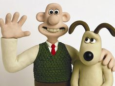 Wallace and Gromit are the main characters in a British series consisting of four animated short films and a feature-length film by Nick Park of Aardman Animations.