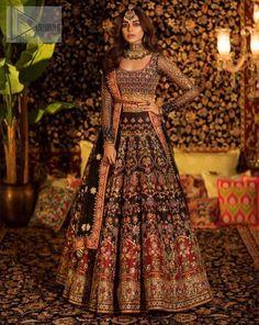 Desi Wedding Dresses, Pakistani Wedding Outfits, Indian Bridal Outfits, Indian Bridal Wear, Pakistani Bridal Lehenga, Indian Wedding Lehenga, Indian Bridal Fashion, Indian Wedding Clothes, Punjabi Wedding Suit