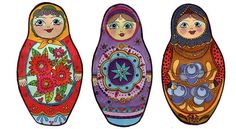 russian doll illustrations | Russian Dolls illustration claire murray