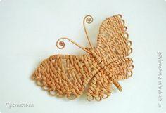 Tutorial Скоро лето! Сплетём бабочку! фото 25