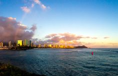 Rainbow behind Diamond Head - Kewalo Basin. #MyHometownPins #gohawaii