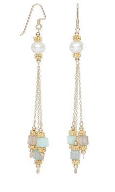 Earrings with Swarovski® Crystal Beads, Cultured Freshwater Pearls and Vermeil Beads - Fire Mountain Gems and Beads