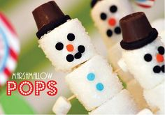 marshmallow pops | ... super simple to make - Snowman Marshmallow Pops full tutorial here