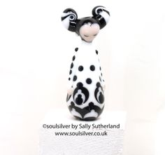 Jester Queen  Focal Doll Bead by SoulSilver on Etsy, £27.00