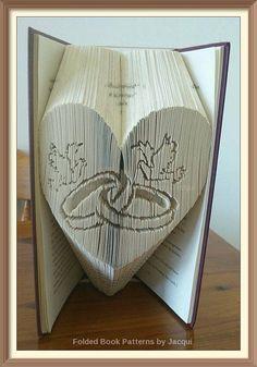 Schneiden und Falten Falten Muster Buch Hochzeit Herz