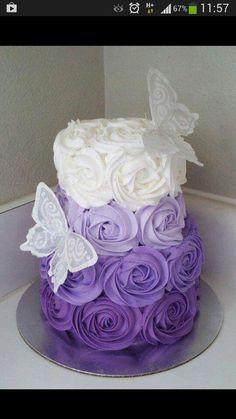 purple ombre cake ♡