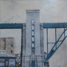 Cate Inglis - Bridge - Oil on board - At The Biscuit Factory