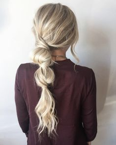 25 Fast Hairstyles for Long Hair Time-saving hairstyle for you hairstyle . - 25 quick hairstyles for long hair Sporty Ponytail, Bubble Ponytail, Knotted Ponytail, Messy Ponytail, Fast Hairstyles, Braided Hairstyles, Wedding Hairstyles, Cute Quick Hairstyles, Easy Work Hairstyles