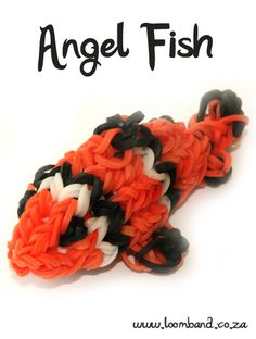 Clown Fish Loom Band Tutorial, http://loomband.co.za/angel-fish-loom-band-tutorial/