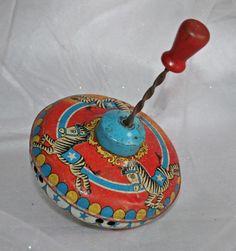 Circus Zebra Ohio Art Co Tin Litho Spinning Toy Top 1940 1950 | eBay