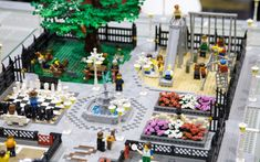 A park in the lego city display