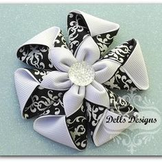 Envelope Flower Hair Clip/Brooch