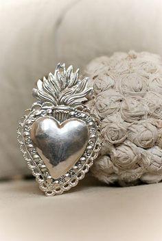 Mexican Silver Corazon......