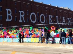 Brookland got yarn bombed this weekend! The Brookland Bombshells, who work at the Monroe Street Market Arts Walk, are working on a project to beautify our neighborhood with colorful yarn! #brookland #yarn #monroestreetmarket