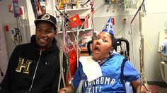 A patient at The Children's Center wish came true today when Thunder Star Kevin Durant surprised him for his birthday. Wish Come True, Hope Love, Kevin Durant, Nba Players, Make A Wish, Birthday Wishes, Faith, Special Birthday Wishes, Loyalty
