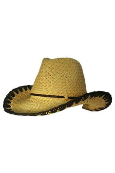 0c1c23dff9b Paper Braid Cowboy Hat With Whipstitch Edging