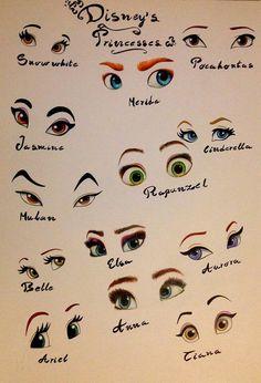 Ecco tutti gli occhi delle principesse Disney
