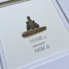 Pebble Art, Family Art, stone art, Pebble Art Picture, Cottage decor, Farmhouse…