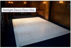 Starlight LED dance floors are perfect to hire for wedding receptions and corporate events.It is the most demanding product due to its unique effect and stunning look on any room or wedding venue.The Starlight dance floors have hundreds of LED built into them, which allow it to produce a twinkling effect. Please Visit - http://www.wedding-venue-lighting.co.uk/white-starlight-dance-floor-hire/